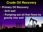 crude oil recovery