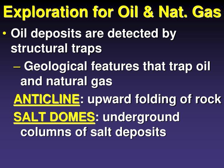 Exploration for Oil & Nat. Gas
