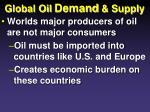 global oil demand supply