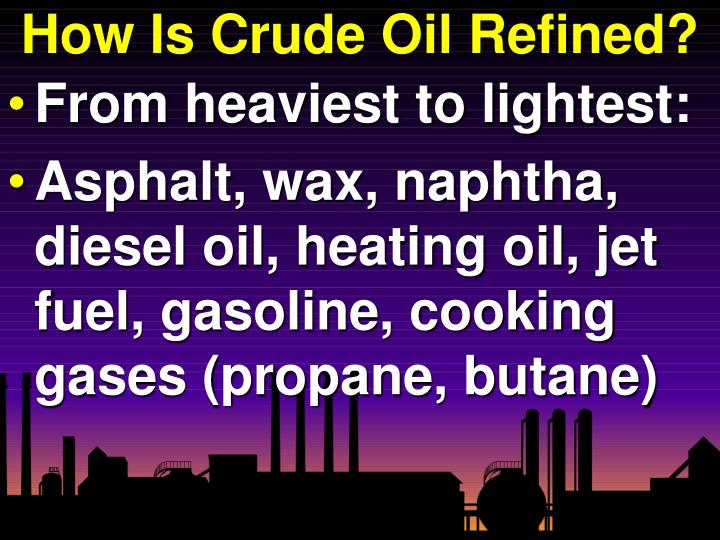 How Is Crude Oil Refined?