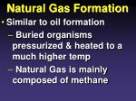 natural gas formation
