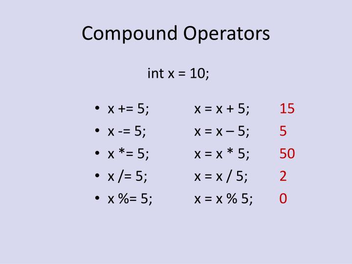 Compound Operators