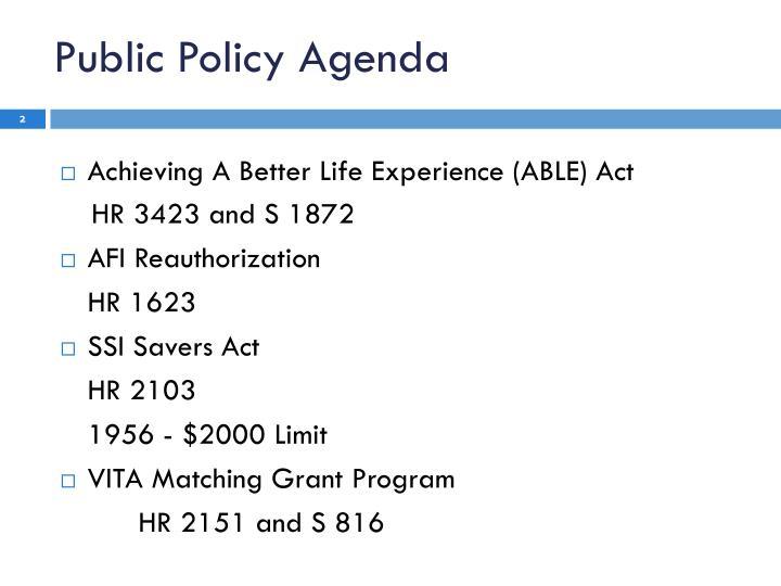 Public Policy Agenda