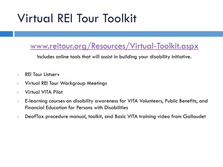 Virtual REI Tour Toolkit