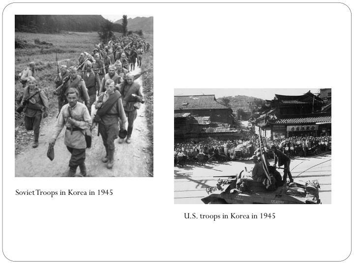 Soviet Troops in Korea in 1945