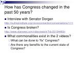 how has congress changed in the past 50 years