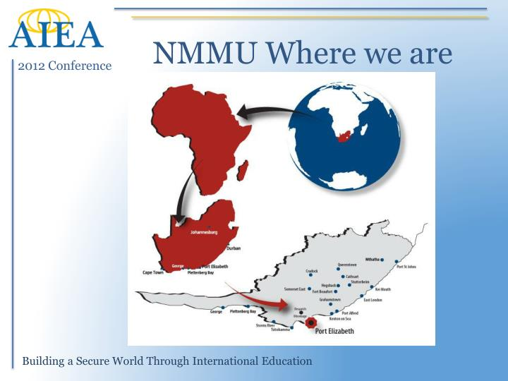 NMMU Where we are
