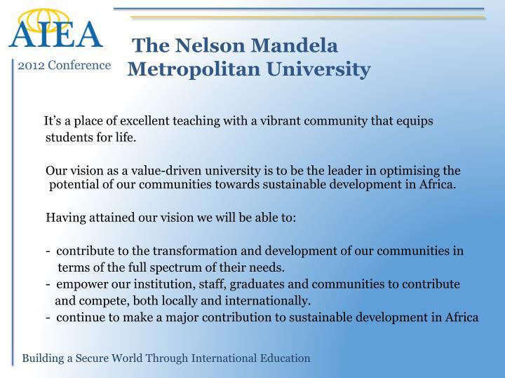 The Nelson Mandela Metropolitan University