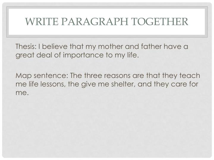 Write paragraph together