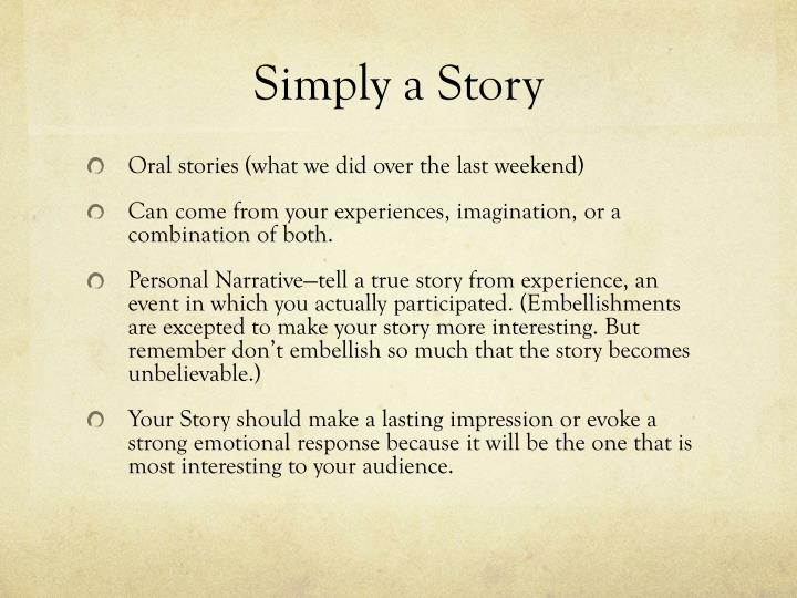 how to make a narrative story interesting