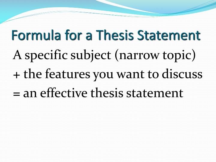 formulating thesis statement