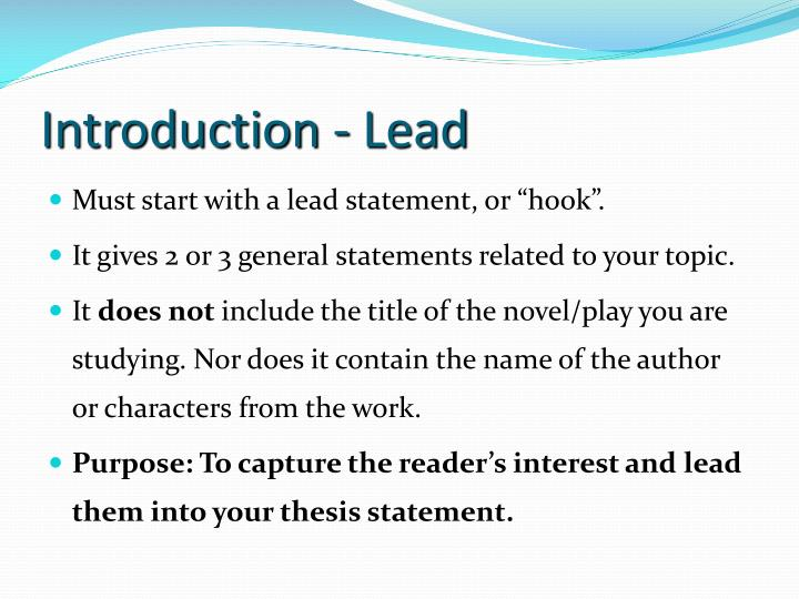 writing a literary essay powerpoint