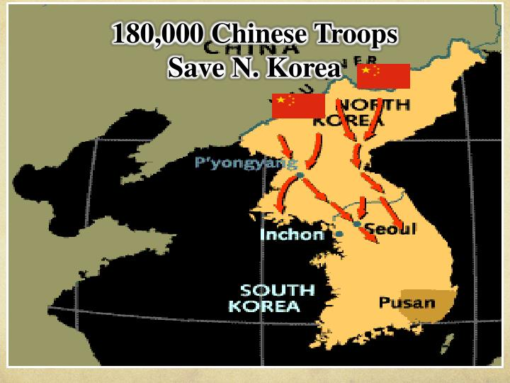 180,000 Chinese Troops