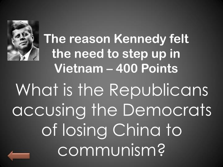The reason Kennedy felt the need to step up in Vietnam – 400