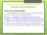 take out a sheet of paper and title reading check questions2