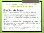 take out a sheet of paper and title reading check questions3