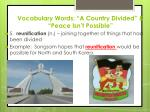 vocabulary words a country divided peace isn t possible4