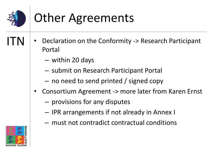 Other Agreements
