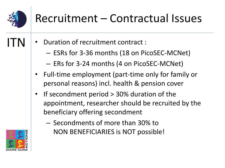 Recruitment – Contractual Issues