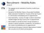 recruitment mobility rules annex iii