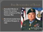 roy benavidez of texas