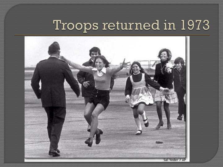 Troops returned in 1973