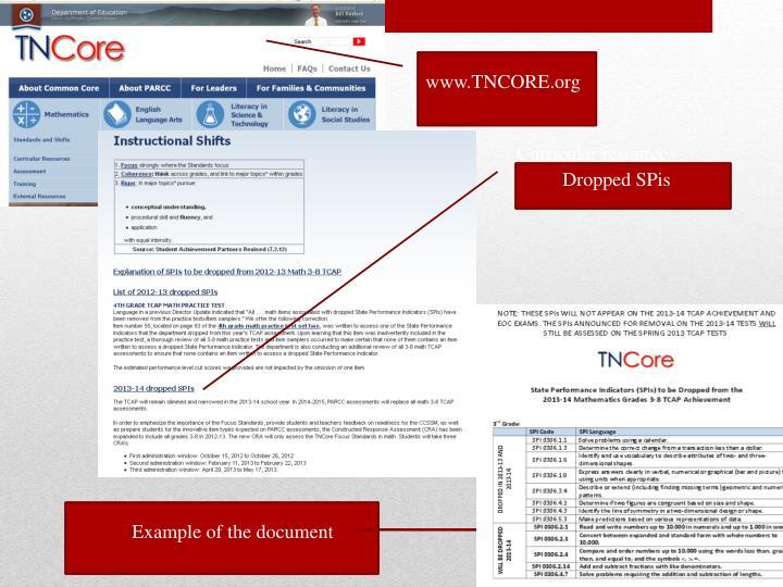 www.TNCORE.org