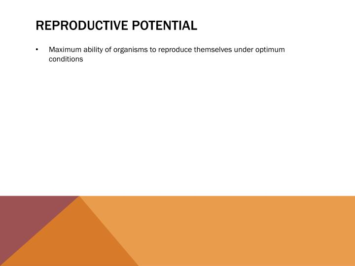 Reproductive potential