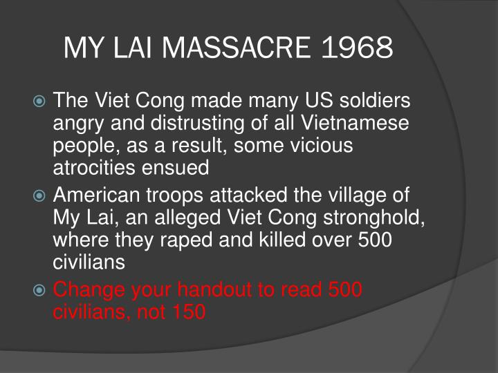 MY LAI MASSACRE 1968