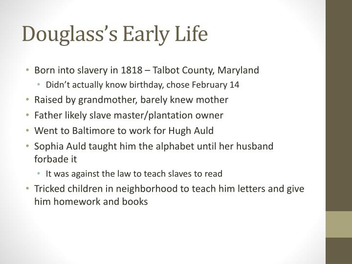 Douglass's Early Life