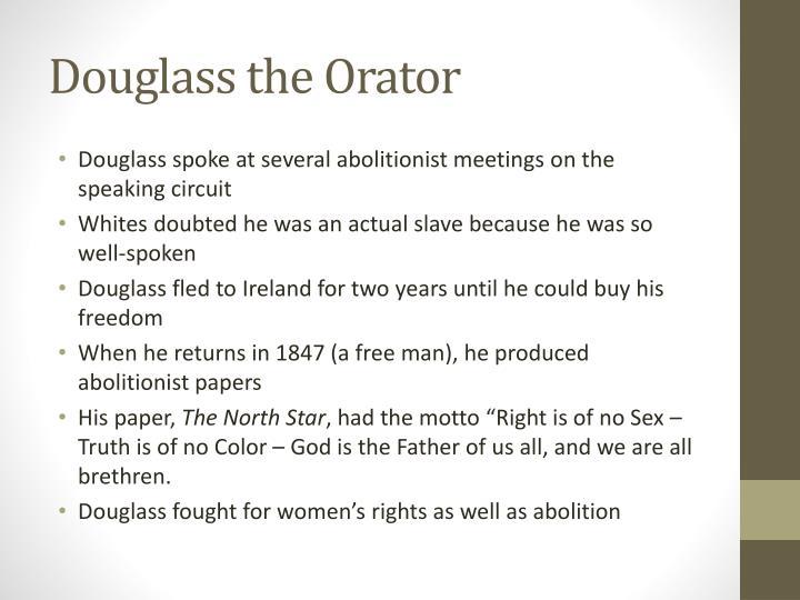 Douglass the Orator