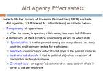 aid agency effectiveness