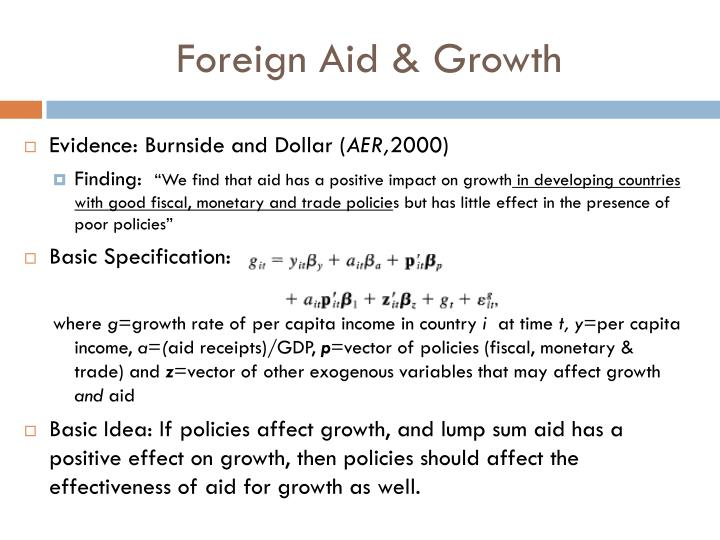 Foreign Aid & Growth