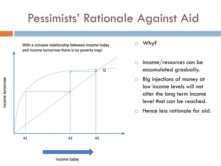 Pessimists' Rationale Against Aid