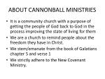 about cannonball ministries