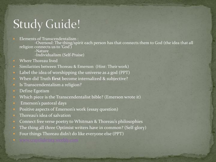 Study Guide!