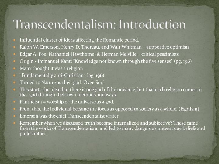 Transcendentalism: Introduction
