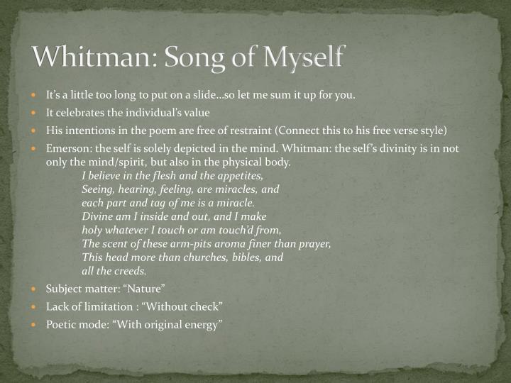 Whitman: Song of Myself