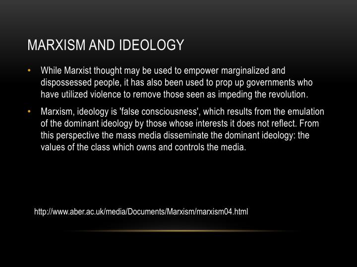 Marxism and ideology
