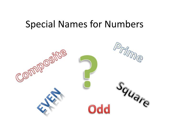 special names for numbers
