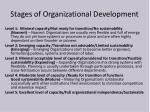stages of organizational development