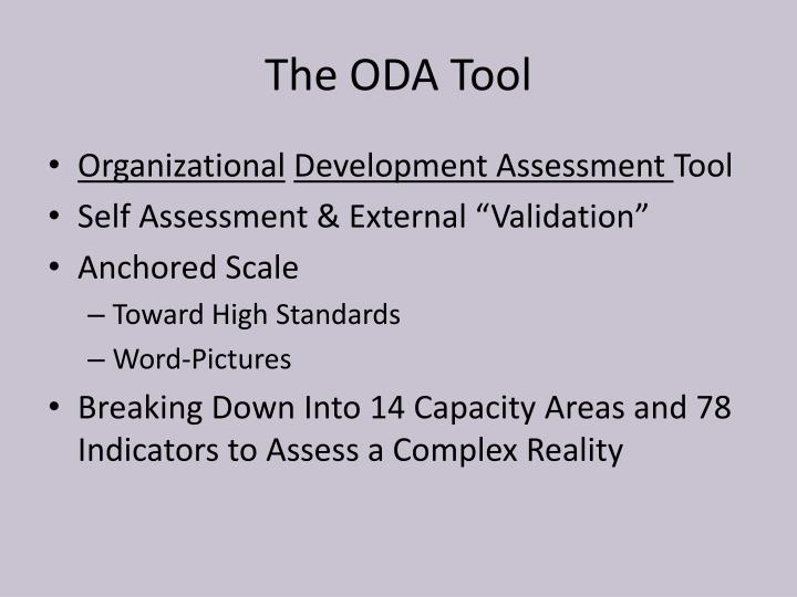 The ODA Tool
