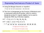 expressing functions as a product of sums