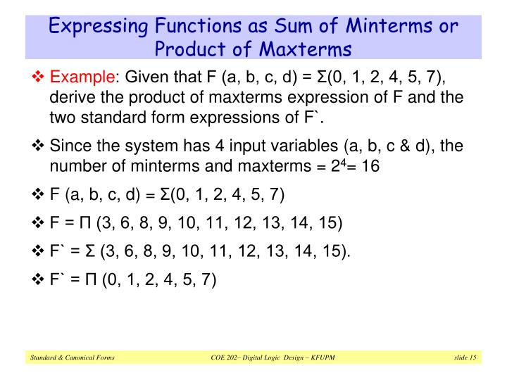 Expressing Functions as Sum of