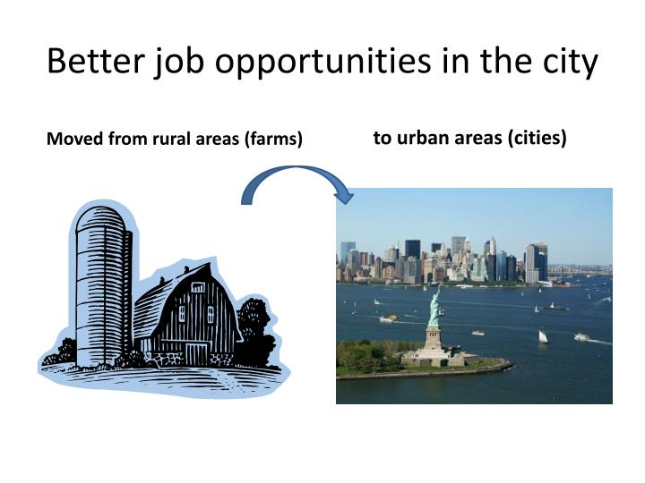 Better job opportunities in the city