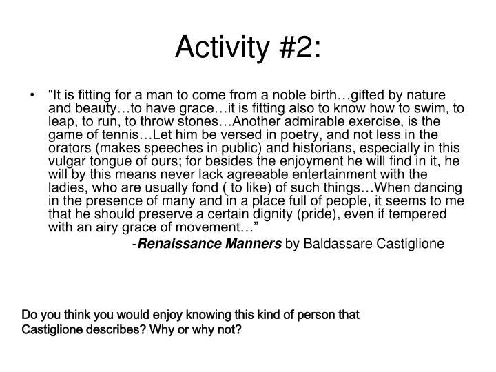 Activity #2: