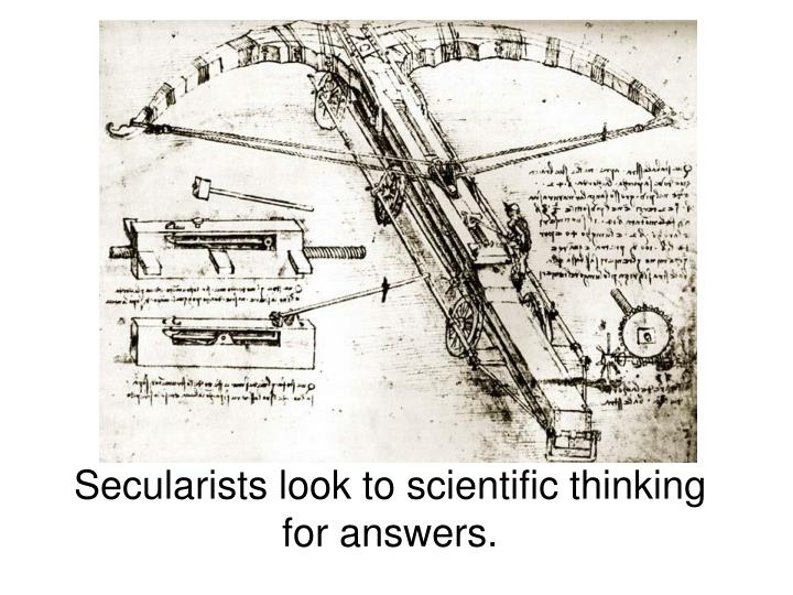 Secularists look to scientific thinking