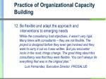 practice of organizational capacity building3