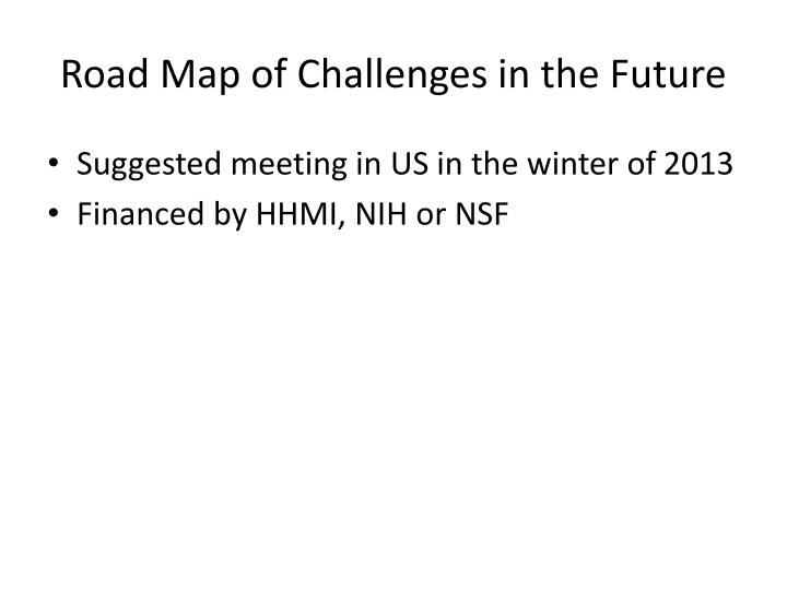 Road Map of Challenges in the Future