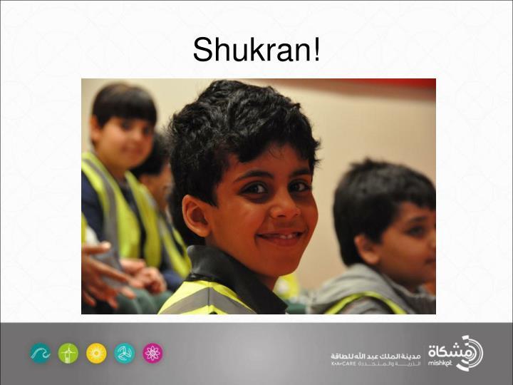 Shukran!